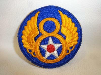 Original Wwii Usaaf Us Army Air Forces 8Th Af Uniform Cut Edge Embroidered Patch