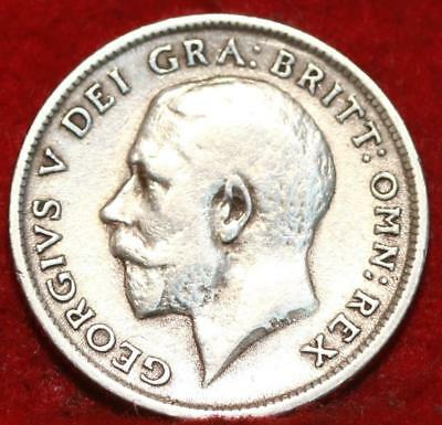 1918 Great Britain 6 Pence Silver Foreign Coin