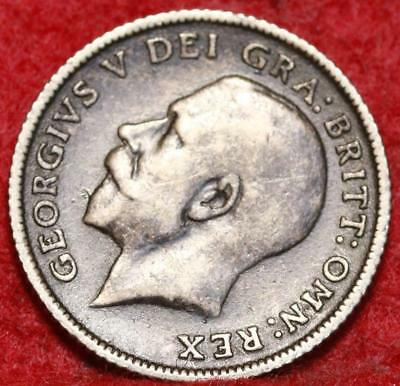 1924 Great Britain 6 Pence Silver Foreign Coin