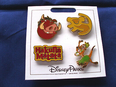 Disney Parks * LION KING * New 4 Pin Themed Set on Card - Character Trading Pins