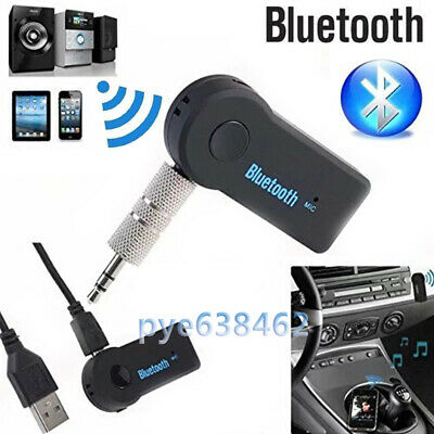 Wireless Bluetooth 3.5mm Jack Travel AUX Audio Stereo Music Car Receiver Adapter