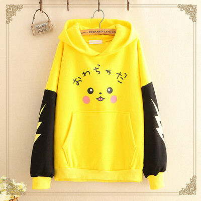 Harajuku Japanese Style Pokemon Go Pikachu Cosplay Costume Coat Hoodie Sweater