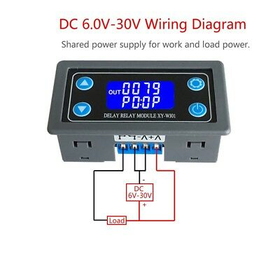 Time Delay Relay Module Digital LCD Display 6-30V Control Timer Switch Trigger