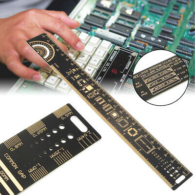 "25cm 10"" Multifunctional PCB Ruler Measuring Tool Resistor Capacitor Chip IC"