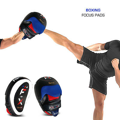 Sporteq Curved Focus Pads Mitts,Hook and Jab Punching Kickboxing Muay Thai MMA