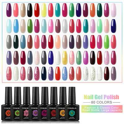 Coscelia Gel Nail Polish Kit Set Soak Off Gel UV LED Nail Gel 80 Colors-Pick Any