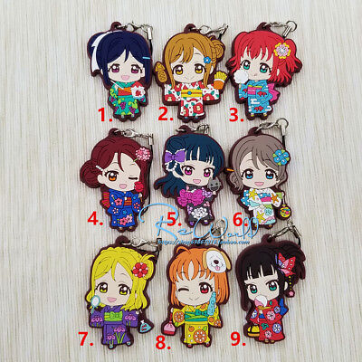 Japan Original Love Live Keychain Lovelive Sunshine Aqours Summer Swimsuit Anime Keychain Bag Parts & Accessories
