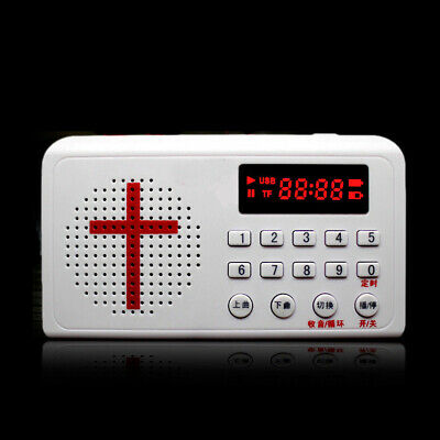White Electronic Bible Audio Talking Speaker Player Rechargeable Radio Gift Tool