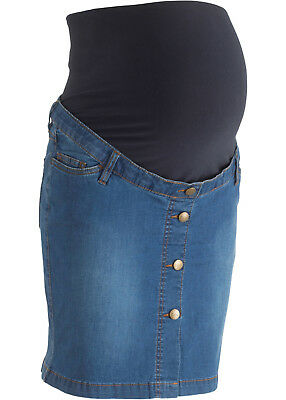 Lockeres Umstands Jeansrock in Blue Stone - Gr. 44 - Q1481 - 913031