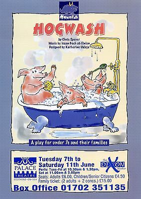 HOGWASH Theatre Flyer Handbill
