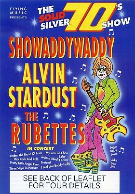 ALVIN STARDUST SHOWADDYWADDY THE RUBETTES Theatre Flyer Tour 1994 Handbill