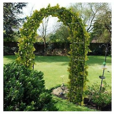 Self Assembly 2.4m Metal Garden Archway Free Standing Arch Climbing Plants Rose