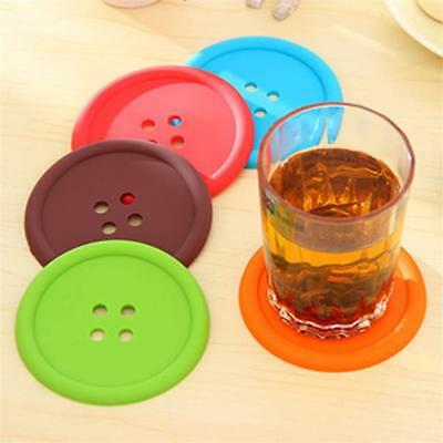 5pcs Silicone Colorful Vintage Flower NONSLIP Tea Coffee Cup Coaster Mat