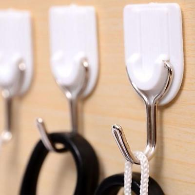 12pcs Wall Hooks Heavy Duty Self Adhesive Sticky Reusable Clear Bathroom Hooks