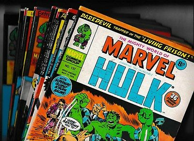 MIGHTY WORLD OF MARVEL STARRING THE INCREDIBLE HULK x 12 No's 137 - 148 1975