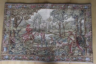 Large Renaissance Flemish antique big tapestry French provincial signed vintage