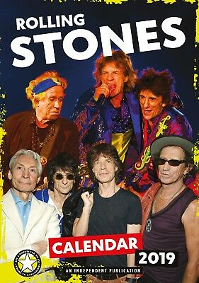 Rolling Stones Wall Calendar 2019 - Large A3 - Rock Music Christmas Gift