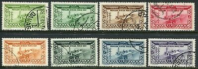 Syria 1937 Paris Exhibition complete set SG 314-321 used (cat. £65)