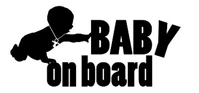 Baby on board, Kids Child Window Bumper Car Sign Decal Sticker