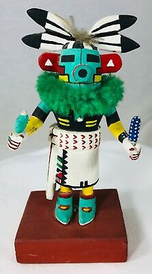 "Corn Dancer Kachina Doll Small 5.25"" Hand Carved & Painted Not Signed"