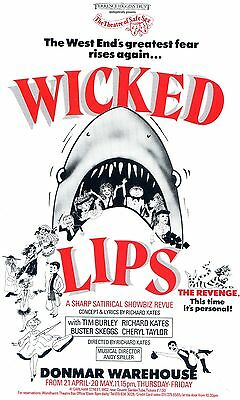 WICKED LIPS Theatre Flyer Handbill