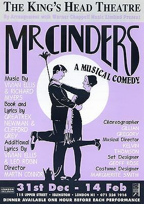 MR CINDERS Theatre Flyer Handbill