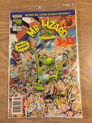 Mr. Lizard #1 Sealed w/3D glasses and lizard capsule signed Tom Richmond 1993