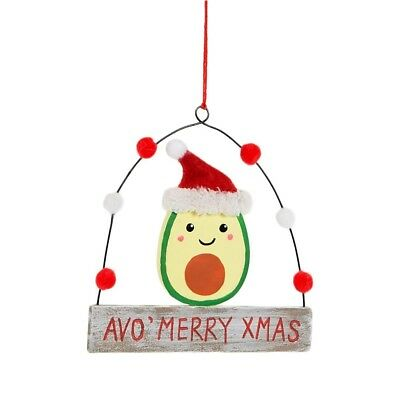Sass & Belle Avo Merry Xmas Hanging Sign Christmas Decoration