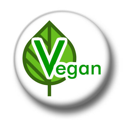 Vegan 1 Inch / 25mm Pin Button Badge Plant Based Diet Vegetarian No Meat Free