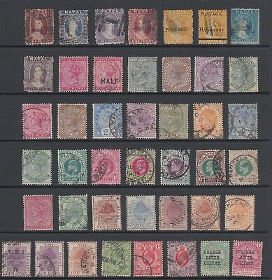 Natal, Orange Free State collection, 43 stamps.