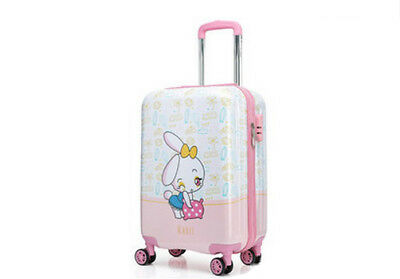 A57 Cartoon Rabbit Universal Wheel Children Suitcase Luggage Trolley 19 Inches W