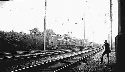 Pennsylvania Railroad (Penn Central) # 4859, GG1 electric, Orig 616 B&W negative