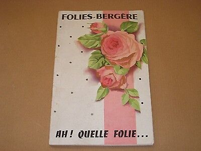 1950s FOLIES BERGERE NIGHT CLUB PROGRAMME PARIS FRANCE