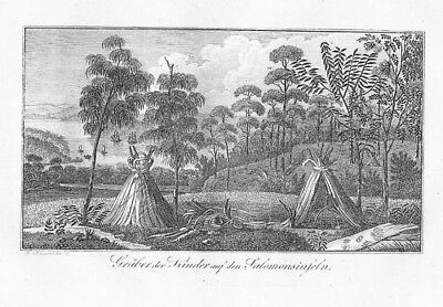 1820 - Solomon-Islands Archipelago Kupferstich engraving map