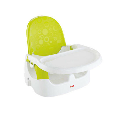 Fisher-Price Quick Clean n' Go Adjustable Booster Platform Seat with Tray, Green