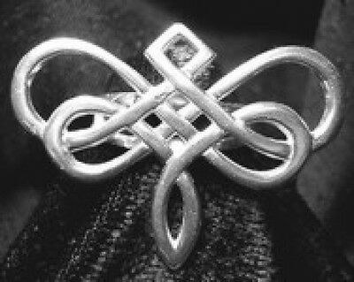 LOOK New Goddess Dragonfly Celtic ring Real Sterling silver 925 Infinity knot Je