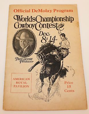 1924 World Championship Cowboy Contest Program Fred Beebe Kansas City Rodeo