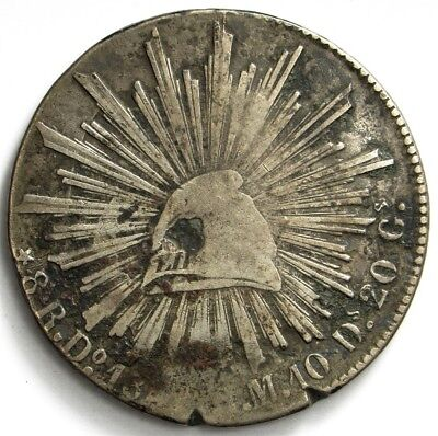 1842Do-RM Mexico 8 Reales - KM#377.4 - Large .903 Silver Coin