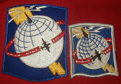 Original WWII AACS patch Lot (2) Variations - Army Airways Communications System