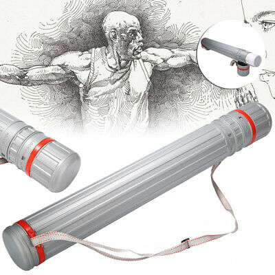 Retractable Drawing Picture Storage Tube Plastic Poster Drafting Scroll Holder