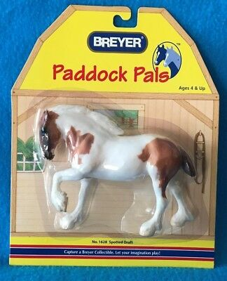 Breyer Pinto Clydesdale Paddock Pal Plastic Horse