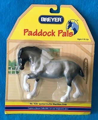 Breyer Blue Roan Pinto Clydesdale Paddock Pal Plastic Horse