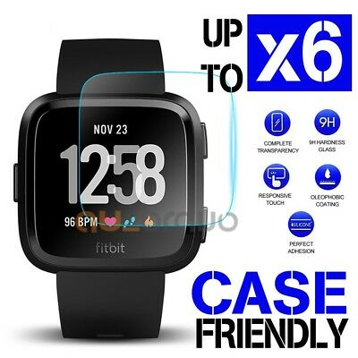2x/4x/6x Fitbit Versa Screen Protector 9H Tempered Glass Full Cover Glass Guard