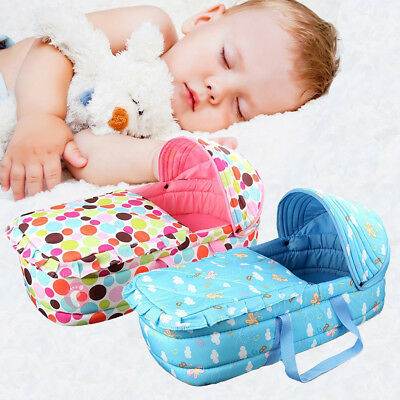 Newborn Baby Infant Moses Basket Portable Cradle Travel Bed Bassinet Comfortable