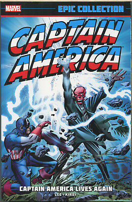 Captain America Lives Again tpb, Marvel Epic Collection, Stan Lee, Jack Kirby