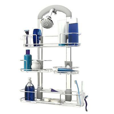 3 Layers Bath Caddy Bathroom Shower Hanging Rack Adjustable Basket Height