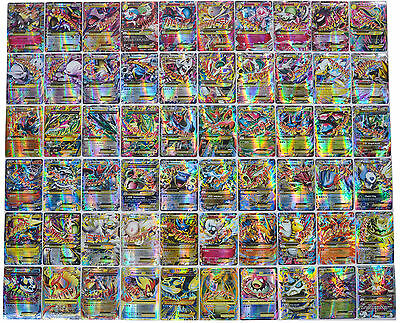 Hot ! New Pokemon TCG : 100FLASH CARD LOT RARE MEGA EX+ EX+ GX CARDS