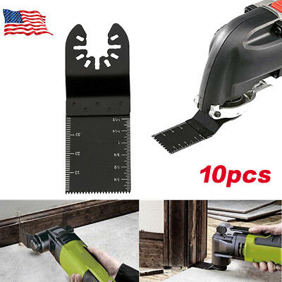 10Pack 34mm Oscillating Multi tool Saw Blades Carbon Steel Cutter DIY Universal