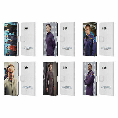 Star Trek Iconic Characters Ent Leather Book Wallet Case Cover For Htc Phones 1