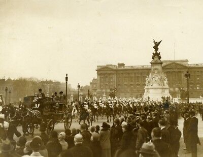 Prince of Wales State Procession Life Guards Buckingham Palace old Photo 1930'
